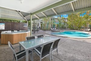 Three hot spas to relax in at Coral Beach Noosa Resort