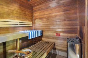 Relax in a sauna at Coral Beach Noosa Resort