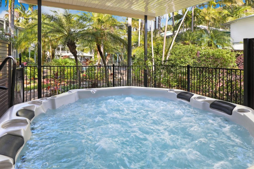 Hot Spa delight at Coral Beach Noosa Resort