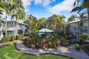 Beautiful Tropical Gardens at Coral Beach Noosa Resort