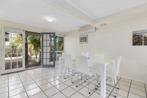 Spacious dining areas at Coral Beach Noosa Resort