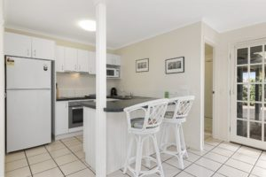 Coral Beach Noosa Resort townhouses have full kitchens