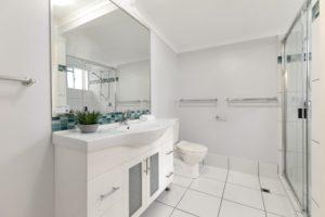 Upstairs bathroom at Coral Beach Noosa Resort