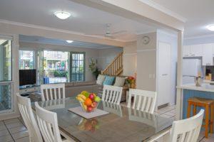 Dining/Lounge Area 3 Bedroom Unit Coral Beach Noosa Resort