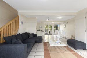 Spacious and bright living at Coral Beach Noosa Resort